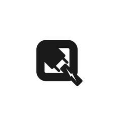 plug socket lighting electrical logo designs vector image