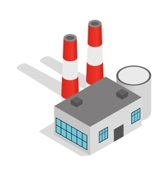 Power plant icon isometric 3d style vector