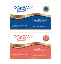 retro vintage business card template 3 vector image