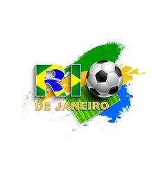 Rio De Janeiro football concept vector