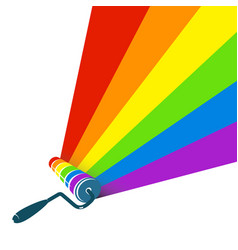 roller with paint stripes vector image