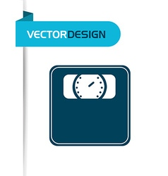 scale icon design vector image