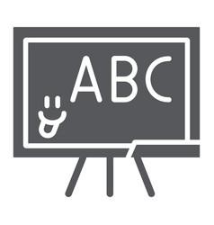 School blackboard glyph icon school and classroom vector