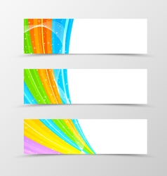 Set of header banner spectrum design vector image