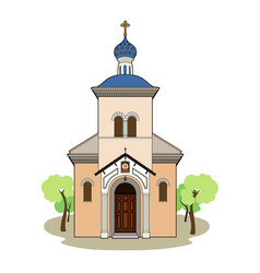 Small orthodox church vector