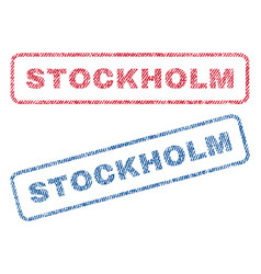 Stockholm textile stamps vector