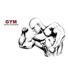 Strong man vector image