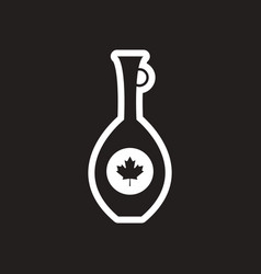 Stylish black and white icon canadian pitcher vector