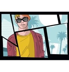 stylish guy vector image