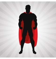 Superhero design Superman icon Costume vector image