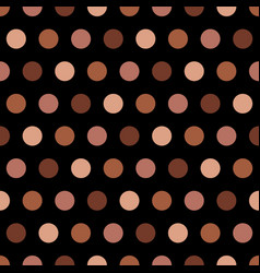 Tan and beige polka dots on black background vector