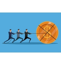 teamwork men money cooperation investment vector image
