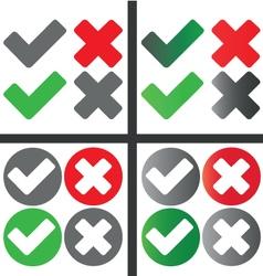 tick cross vector image