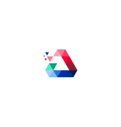 Triangle colored data technology logo vector