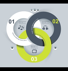 User interface template EPS 10 vector image