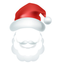 video chat santa claus face selfie effect photo vector image