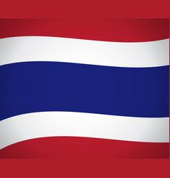 Waving thailand national flag vector