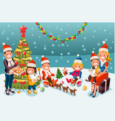Winter christmas party night vector