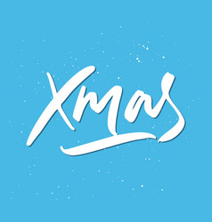Xmas holiday lettering vector