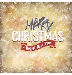 xmas lettering with golden lights vector image