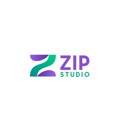 zip studio sign vector image