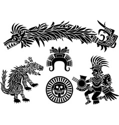 aztec set vector image