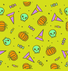 bright and funny halloween seamless pattern vector image vector image