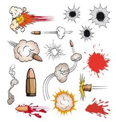 Comic book bullets set vector image vector image