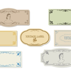 Set of a retro of labels of ancient design vector image vector image