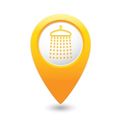 Shower icon yellow map pointer vector
