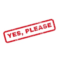 Yes Please Rubber Stamp vector image