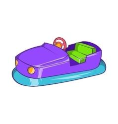 Bumper car in amusement park icon cartoon style vector image