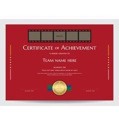 Certificate of achievement template vector