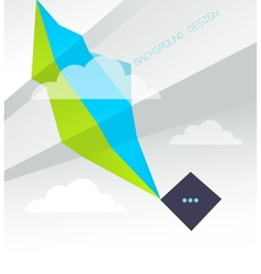 Geometric Background with clouds vector image vector image