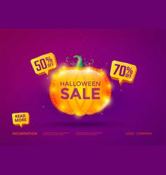 halloween sale banner vector image