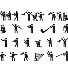 Pictogram people singing vector