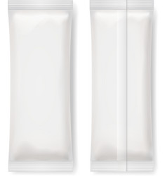 Set of White Blank Foil Packaging vector image vector image
