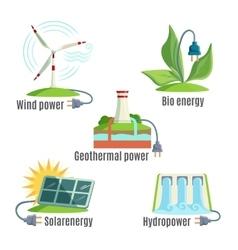 Alternative Eenergy Source Set vector image