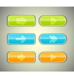Arrow buttons set vector image