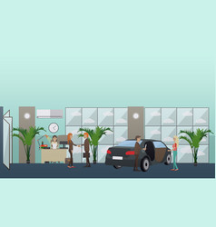 car shop concept in flat style vector image vector image