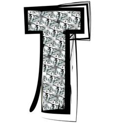 Diamond Font letter T vector image vector image