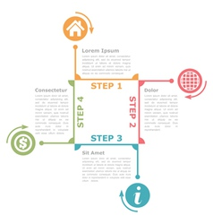 Four Steps Diagram Template vector image vector image