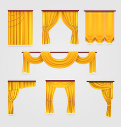 gold velvet curtain drapery wedding stage vector image vector image