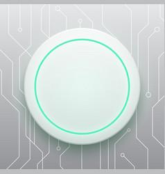 technology digital future modern circle circuit vector image vector image