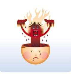 angry vector image