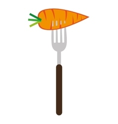 carrot on a fork graphic vector image