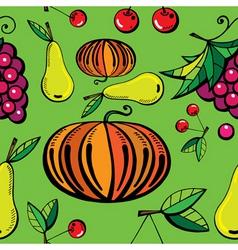 natural food print vector image vector image