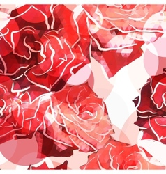 Rose background Floral abstract pattern vector image vector image