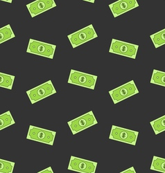 Seamless Pattern with American Money Dollars Bank vector image