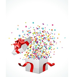 surprise present box vector image vector image
